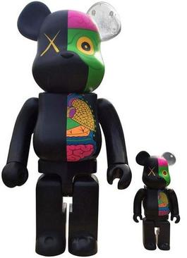 Dissected Companion: Bearbrick 400% & 100% (Black)
