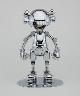 KAWS X HAJIME SORAYAMA No Future Companion (Silver Chrome)