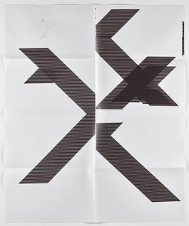 "X Poster (Untitled, 2007, Epson UltraChrome inkjet on linen, 84x69"", WG1210), 2018"