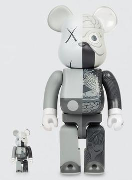 Dissected Companion: Bearbrick 400% & 100% (Grey)
