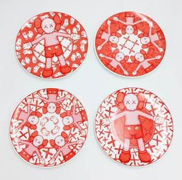 Limited Ceramic Plate Set (Set of 4) - Red
