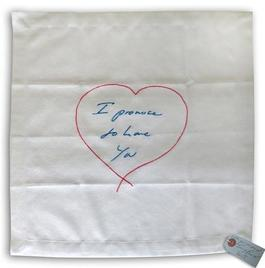 I Promise To Love You - embroidered napkin