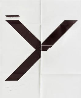 X Poster (Untitled, 2007, Epson UltraChrome inkjet on linen, 84 x 69 inches, WG1211), 2019