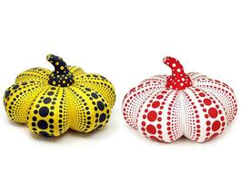 Pumpkin Soft Sculpture Small (Yellow and Red)