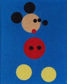 Mickey (Blue Glitter) - Large