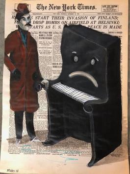 Man Comforting Sad Piano