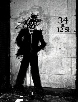 Richard Hambleton Shadowman with Basquiat- 34 E 12th Street)