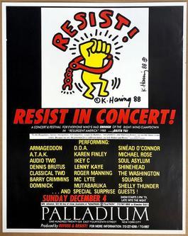 Resist! Resist in Concert at the Palladium, Sunday December 4, 1988 Announcement