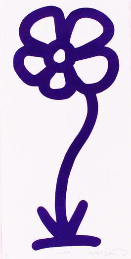 Violet, 15 Anniversary Flower Print Series (Rainbow/Roy G. Biv Series)