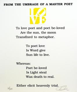 From the Umbrage of a Master Poet Poem, Book of Love