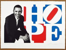 Obama Portrait: Red, White, Blue