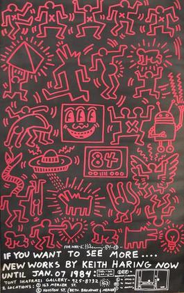 New Works by Keith Haring, Shafrazi Exhibition Announcement