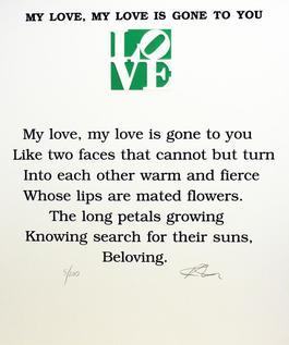 My Love, My Love is Gone To You Poem, Book of Love