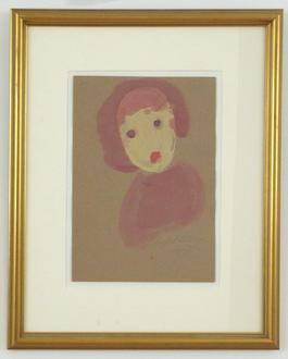 Untitled (Girl with Purple Eyes)
