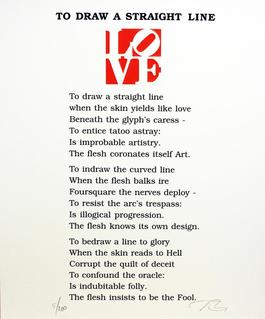 To Draw A Straight Line Poem, Book of Love