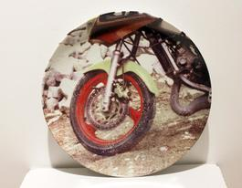 Motorcycle, Guggenheim Retrospective Limited Edition Plate