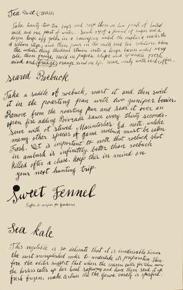 Tea Ice Cream, Seared Roebuck, Sweet Fennel, Sea Kale