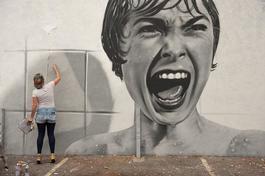 Psycho mural