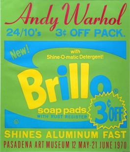 Brillo Soap Pads, Pasadena Art Museum Exhibition, Exhibition Advertisement