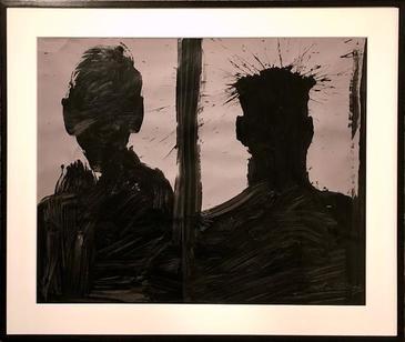 Double Shadow Head Portrait (Diptych)