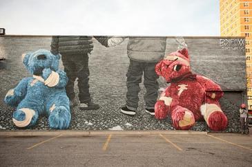 Teddy Bears mural