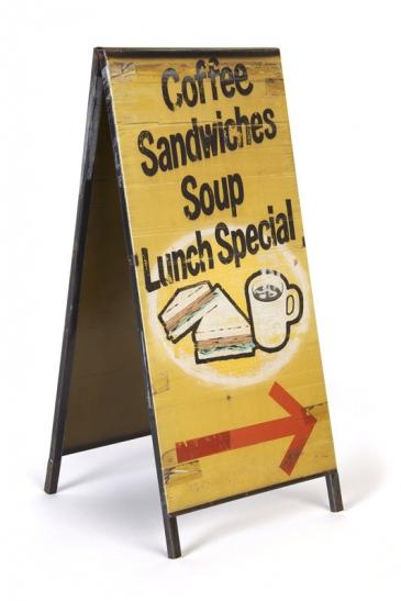 Sandwich Board Sculpture, 2013