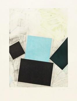 Untitled (Blue Square with Green)