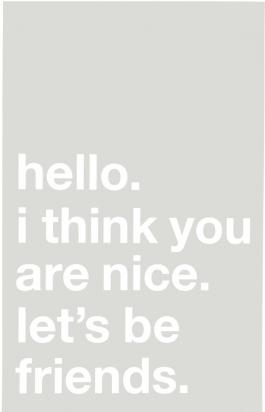 HELLO I THINK YOU