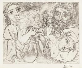 Minotaur, Drunkard and Women (Minotaur, Buveur et Femmes - 4th state)