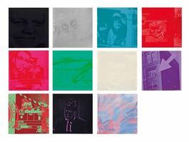 Portfolio of eleven screenprints with screenprint cover