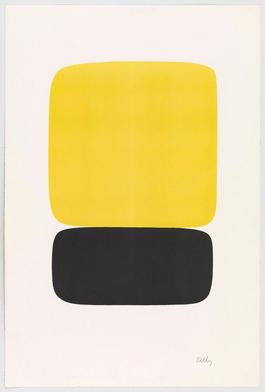 Yellow over Black (Jaune sur noir) from Suite of Twenty-Seven Color Lithographs