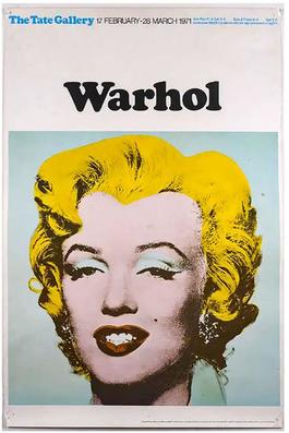 Marilyn (Tate Gallery, London, 1971) Exhibition Poster