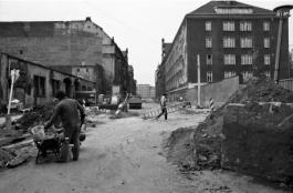 Baustelle Plankstr., 1990