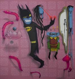Batman and Robin in Wonderland