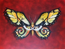 Elephutterfly canvas red