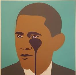 Crying Obama Aqua