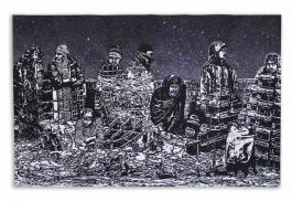 Homelessness Woodblock Print