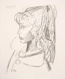 Sylvette de Profil Gauche, 1954