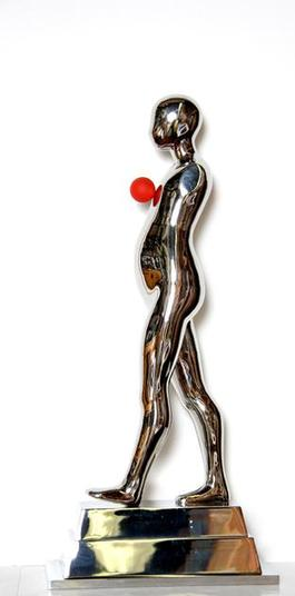 Walking Figure (Red Ball)