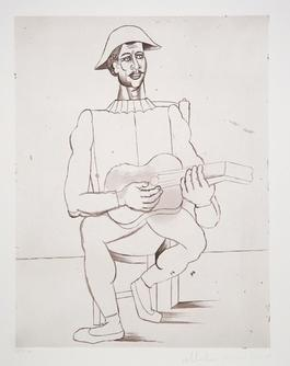Arlequin Moustachu a la Guitare