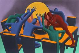 Earth Inc., 1990, Mark Kostabi
