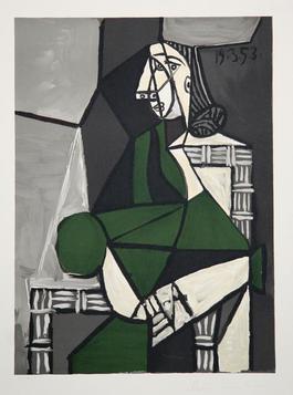 Portrait de Femme Assise, Robe Verte, 1953