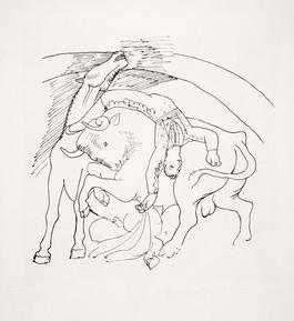 Taureau et Cheval, 1921