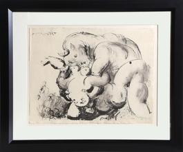 """Minotaure Violant Une Femme from the portfolio """"La Flute Double"""""""