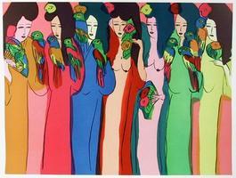 Femmes aux Perroquets