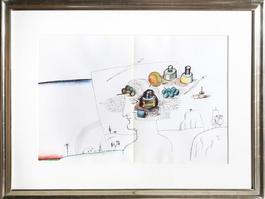 Artist in Landscape from Derriere le Miroir
