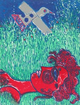 La Femme au paupieres peints