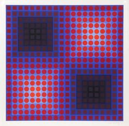 Untitled - Red Circles and Squares from Permutations