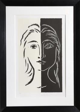 Portrait en Deux Parties Noire et Blanche, 26-D