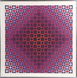Untitled - Red and Blue Diamond from Permutations
